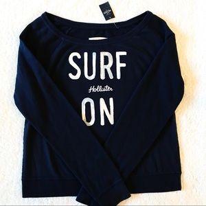 NWT HOLLISTER Off Shoulder Boatneck Sweatshirt